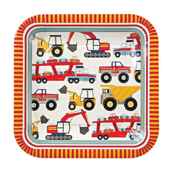 Big Rig Plates (large) - IMAGINE Party Supplies