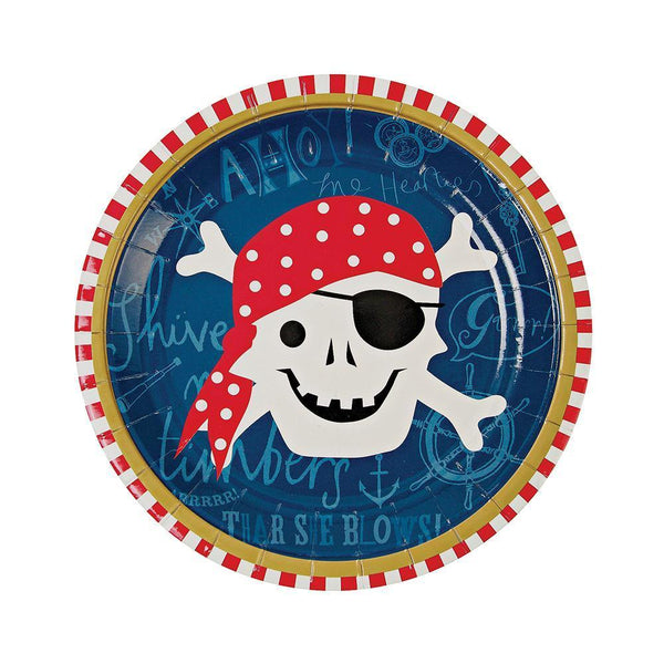 Ahoy There Pirate Plates (small) - IMAGINE Party Supplies