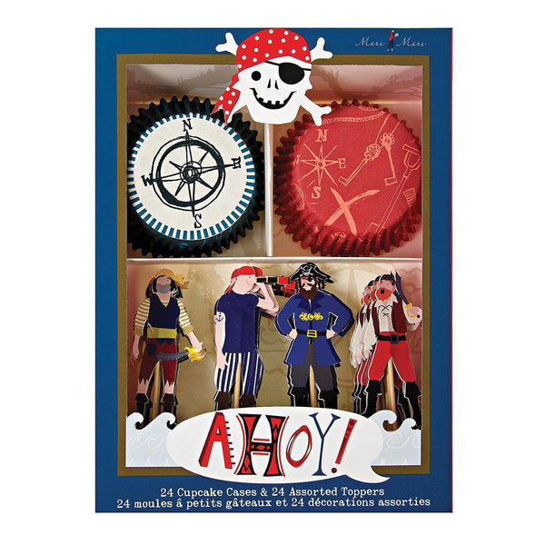 Ahoy There Pirate Cupcake Kit - IMAGINE Party Supplies
