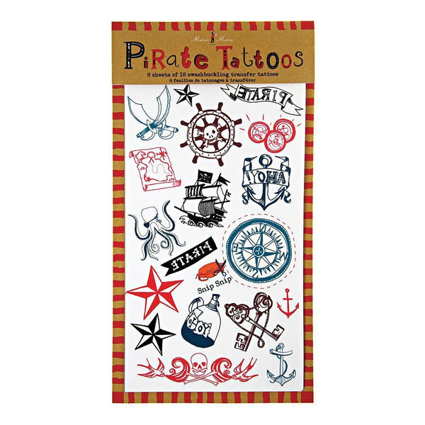 Ahoy There Pirate Tattoos - IMAGINE Party Supplies