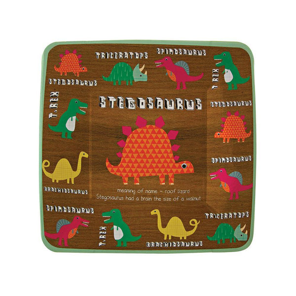 Dinosaur Square Party Plates (small) - IMAGINE Party Supplies