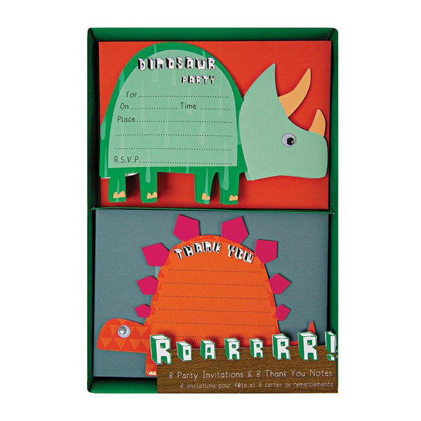 Dinosaur Invitations & Thank You Notes - IMAGINE Party Supplies