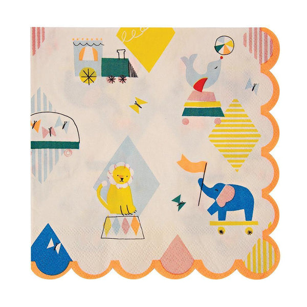 Silly Circus Napkins (large) - IMAGINE Party Supplies