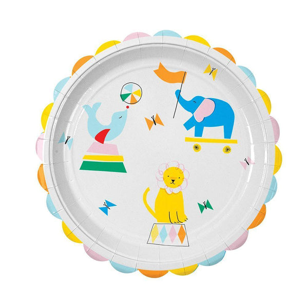 Silly Circus Plates (large) - IMAGINE Party Supplies