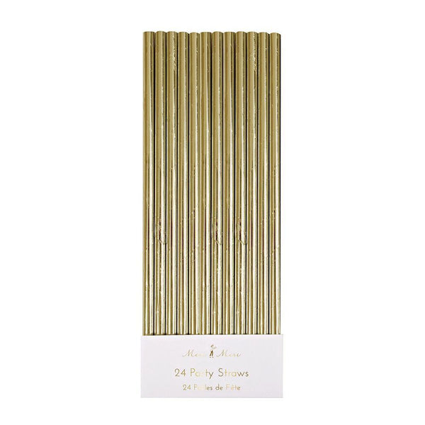 Gold Foil Party Straws - IMAGINE Party Supplies