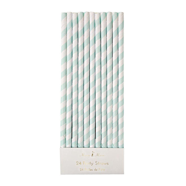 Mint Striped Straws - IMAGINE Party Supplies