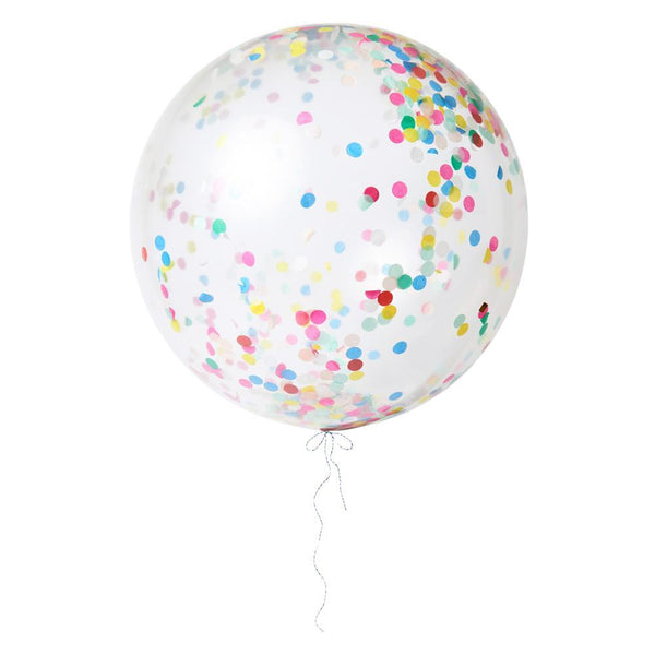 Multicolor Giant Confetti Balloon Kit - IMAGINE Party Supplies