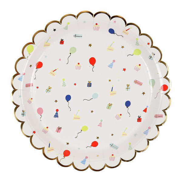 Party Icon Scallop Edge Plates (large) - IMAGINE Party Supplies