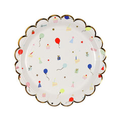 Party Icon Scallop Edge Plates (small)