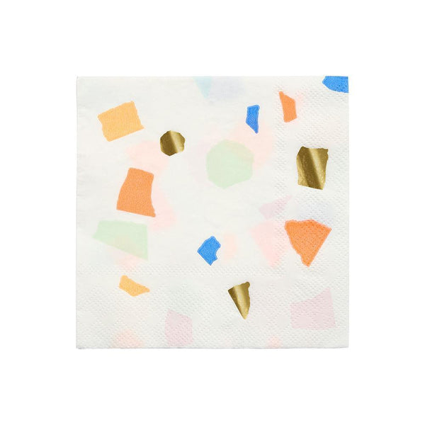 Bright Terrazzo Napkins (small) - IMAGINE Party Supplies