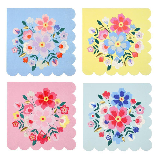 Bright Floral Napkins (large) - IMAGINE Party Supplies