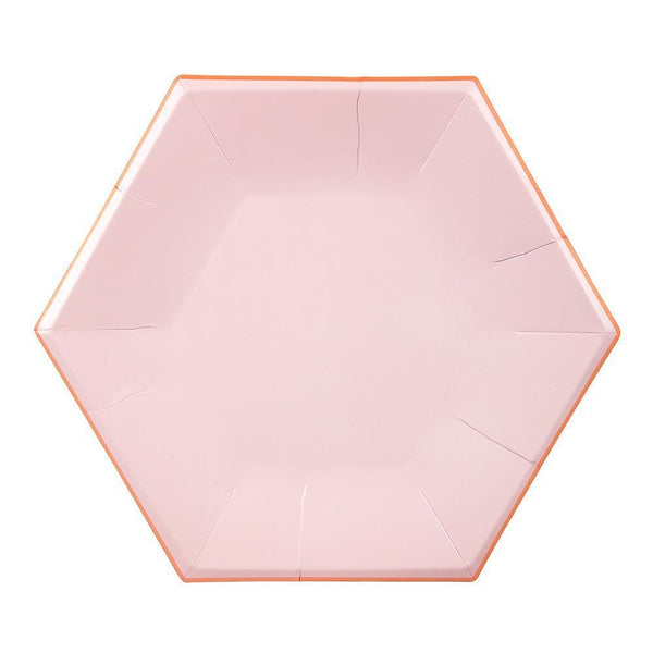 Pink Pastel Plates (large) - IMAGINE Party Supplies
