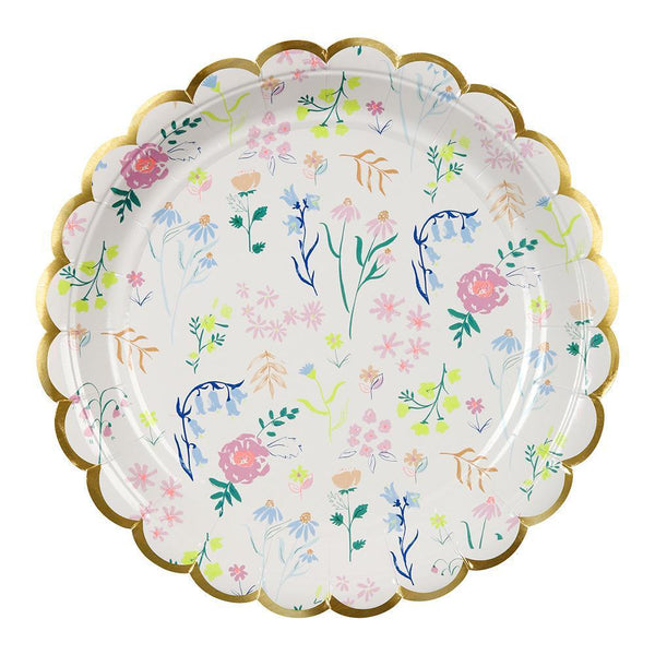 Wildflower Plates (large) - IMAGINE Party Supplies