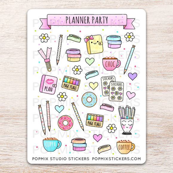 Planner Party Stickers
