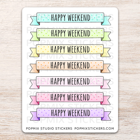 Weekend Pastel Stickers