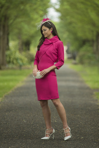 Melania Cerise Dress &  Bolero