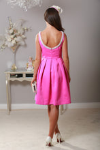 Magenta Pearl Neckline Dress - Virgo Boutique