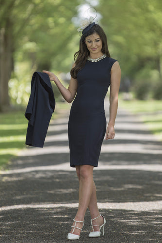 Melania Navy Dress & Bolero