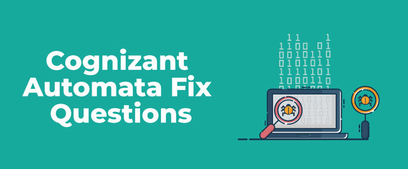 Cognizant Automata Fix Questions | AMCAT Automata Questions for Cognizant | PlacementSeason