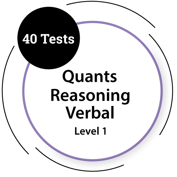 General Quants, Reasoning and Verbal Tests - Level 1 - 40 Tests General Test - PlacementSeason
