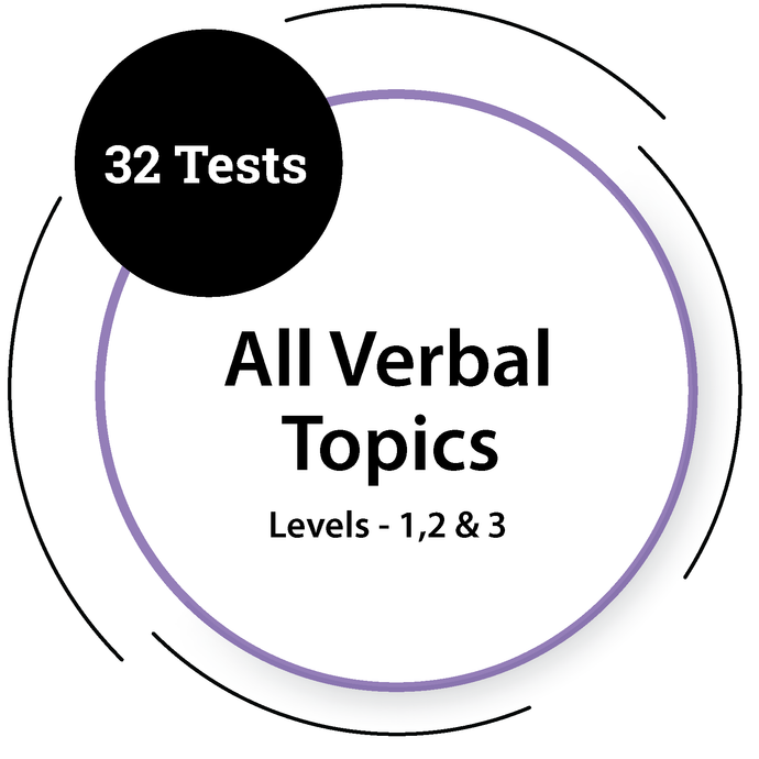 General Verbal Tests - All Topics & All Levels General Test - PlacementSeason
