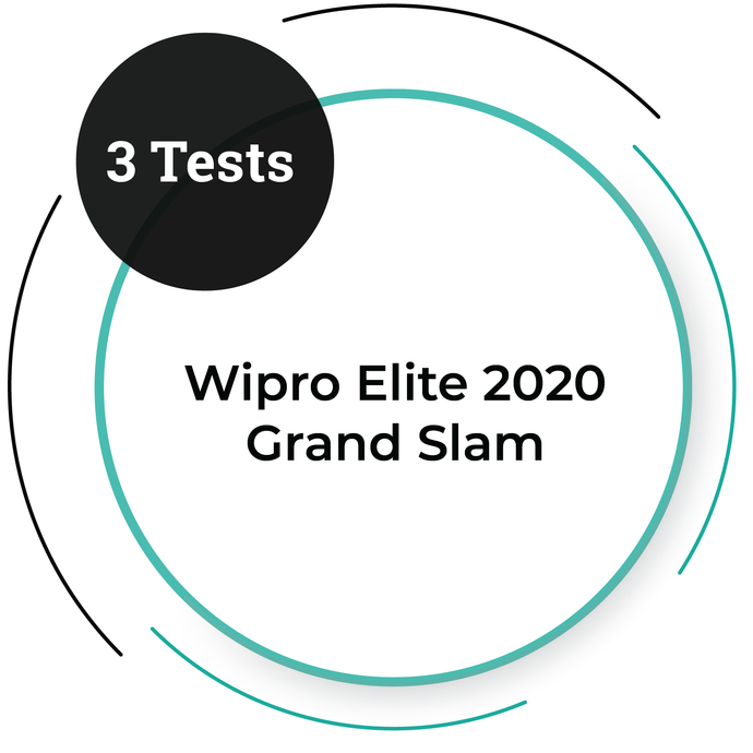 Wipro Elite 2020 Grand Slam - 3 Tests Pack | PlacementSeason