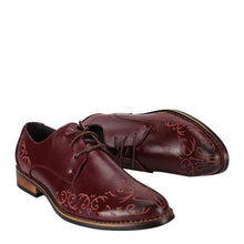 Prettymia Vintage Low Heel Lace Up Printed Men's Oxfords