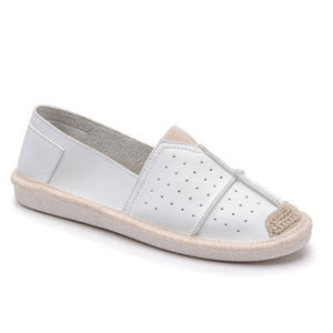Prettymia Round Toe Slip On Rubber Flat Loafers
