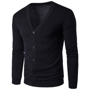 Prettymia Brief  Vintage V-Neck Long Sleeve Comfortable Men's Sweater