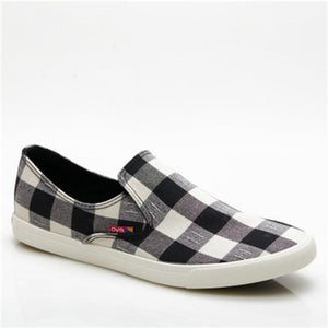 Prettymia Lattice plain Slip On Men's Casual Shoes