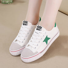 Prettymia Star Lace Up Flat Casual Canvas Shoes