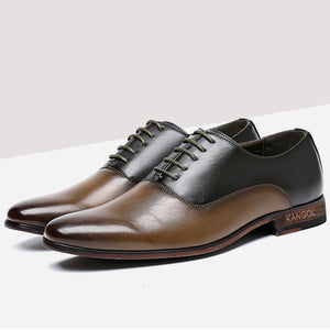 Prettymia Retro Patchwork Lace Up Men's Oxfords
