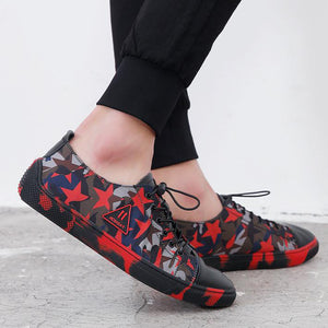 Prettymia Breathable Print Patchwork Men's Flat Shoes