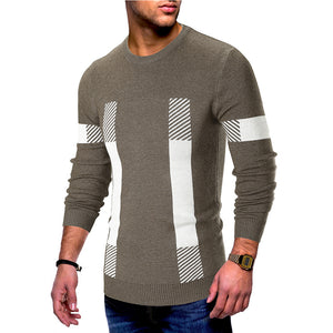 Prettymia Color Blocked Long Sleeve Loose Casual Men's Sweater