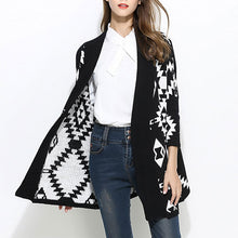 Prettymia Long Sleeve Jacquard Weave Women's Knitwear
