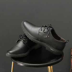 Prettymia Increase Clean Color Lace Up Men's Oxfords