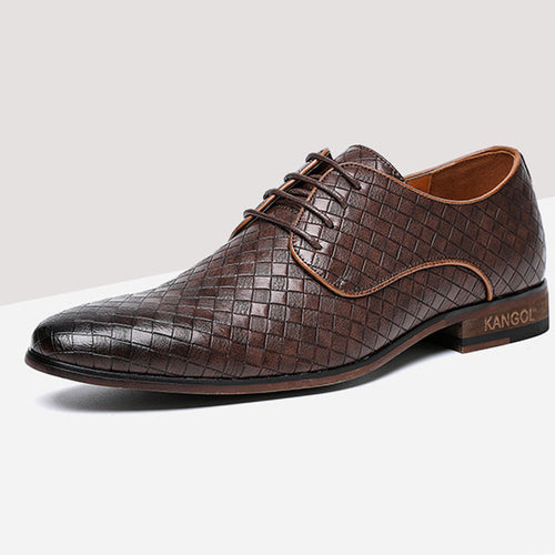 Prettymia Retro Business Patchwork Men's Oxfords