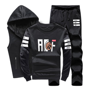 Prettymia Pullover Letter Long Sleeve Brief Men's Tracksuit