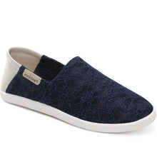 Prettymia Lace Slip On Flat Casual Canvas Shoes