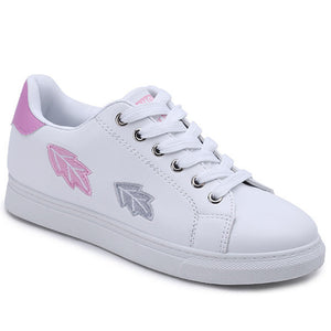 Prettymia Spring Lace Up Flat Casual Sneakers