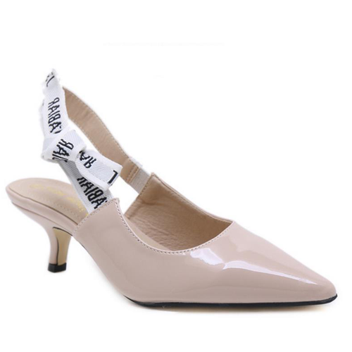 Prettymia Pointed Toe Slip On High Heels