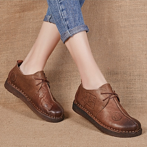 Luxury Breathable Plus Size Genuine Leather Shoes
