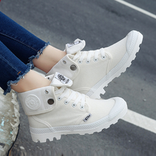 Lace-up High Top Canvas Casual Shoes