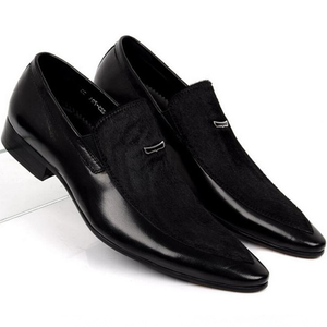 Genuine Leather Pointed Toe Men's Dress Shoes