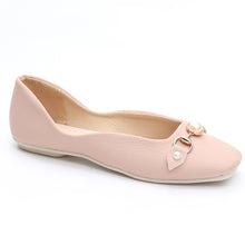 Prettymia Square Toe Pearl Slip On Flat Loafers