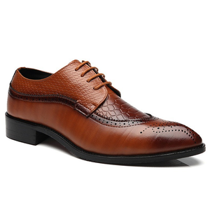 Plus Size Fashion Lace-up Men's Dress Shoes
