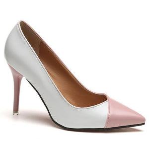 Prettymia Slip On Pointed Toe Stiletto High Heels