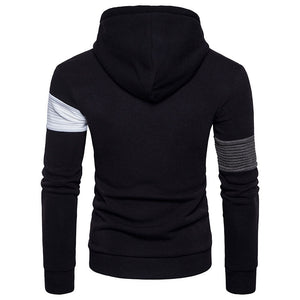 Prettymia Contrast Color Long Sleeve Cotton Blends Men's Hoodies