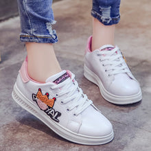 Prettymia Round Toe Flat Lace Up Casual Shoes