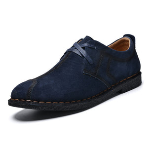Prettymia Breathable Patchwork  Lace Up Men's Loafers
